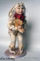 Fimo, натуральный шелк, 30 см, 2007