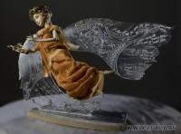 ладол, гравировка по акриловому стеклу, 54 см, 2009