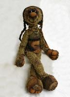 хлопок, натуральная кожа, фрагменты антик. тканей, антик. пуговицы, 45 см, 2008