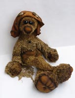 хлопок, натуральная кожа, антик. пуговицы, антик. кружево, 45 см, 2008