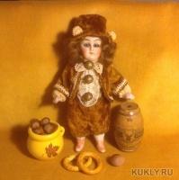 Фарфор, старинные ткани, кружева, бисер, стразы, 15 см, 2014