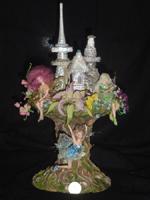 фарфор, смешанная техника, 33 см, куклы от 8 см до 10 см, 2005 г.