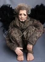 Living Doll, краски масляные, шерсть, перо, 31 см, 2011