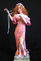 паперклей, роспись акрилом, волосы из шерсти козы, 34 см с подставкой, 2008