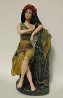 паперклей, роспись акрилом, волосы из шерсти козы, 34 см, 2009