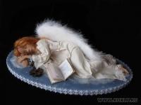 премо, волосы из шерсти козы, роспись акрилом, крылышки из натуральных перышек, 40 см, 2010