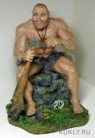 Цернит. Мех шиншиллы. Дубина — карта-песто. Искусственный мох., 40 см, 2009