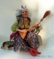 Living Doll. Мех шиншиллы. Текстиль. Сапоги — натуральная замша. Искусственный мох, 50 см, 2012