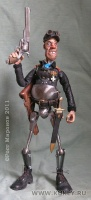 сталь, латунь, медь, кожа, текстиль, фимо, эпоксилин, оргстекло, дуб, 18 см, 2011