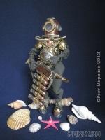 эпоксилин, фимо, текстиль, свинец, медь, латунь, бронза, сталь, оргстекло, мохер, 21.8 см, 2013