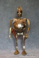 сталь, латунь, кожа, дуб. Шарнирная кукла, : 27, 5 см/ в шлеме 30, 5 см, 2015