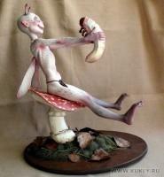 la doll, magic-sculpt, hearty soft, бумага и др., 29 см в высоту, 25 в длину, 2011