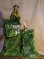 паперклей, папье-маше, бумага, батик, роспись аэрографом, 45 см, 2012
