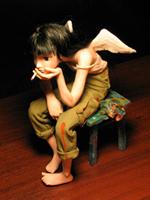 паперклэй, 18 см сидя, 2005 г.