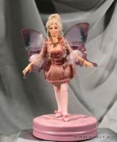 Fimo Miniature. Подставка задекорирована Paperclay., Высота куклы –17см, Февраль, 2008 г.