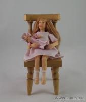 Fimo Miniature, Cernit, Высота композиции –12,5 см. Высота куклы –15 см, Апрель, 2008 г.