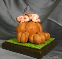 Fimo Miniature, Высота композиции –10 см. Высота куклы – 8 см., Сентябрь, 2008 г.