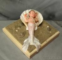 Fimo Miniature, Cernit, Высота композиции – 5 см. Высота куклы –10,5 см., Сентябрь, 2008 г.
