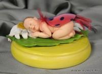 Fimo Miniature, Высота композиции – 5,5 см. Высота куклы – 8,5 см., Январь, 2009 г.