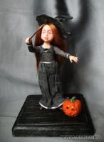 Fimo Miniature, Fimo puppen, Высота композиции –15 см. Высота куклы –11,5 см., Июль, 2009 г.