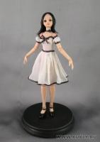 Fimo Miniature, Высота композиции – 20 см. Высота куклы –18,5 см., Октябрь, 2009 г.
