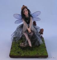 Fimo Miniature, Высота композиции – 13 см. Высота куклы – 13 см., Июнь, 2009 г.