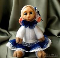 fimo miniature, флис, синтипон, пластик, Высота куклы – 15 см, 2016