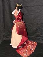 Ливингдолл, кружева, ткани, бархат, бисер, натуральный жемчуг, ручная роспись по пластику и ткани, 50 см, 2008