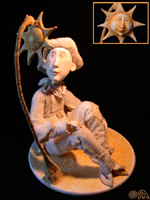 Paperclay, одежда - натуральный шёлк, 27 см, 2005 г.